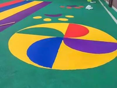 幼儿园卡通塑胶跑道